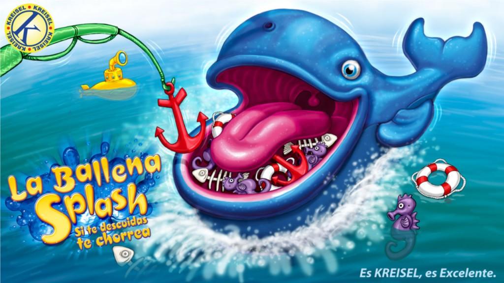 Splash Whale Kreisel